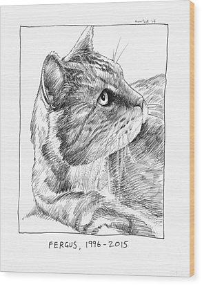 Fergus Wood Print by Steve Hunter
