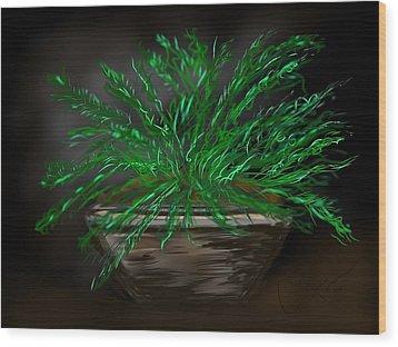 Fern Wood Print by Christine Fournier
