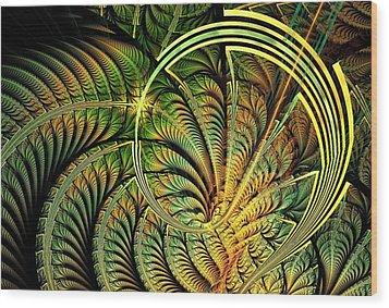 Fern Loop Wood Print by Anastasiya Malakhova
