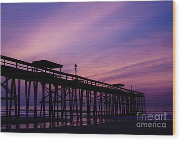 Fernandina Fishing Pier At Sunrise Wood Print by Dawna  Moore Photography