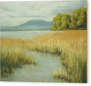 Wood Print featuring the mixed media Fernridge Summer by Kenny Henson
