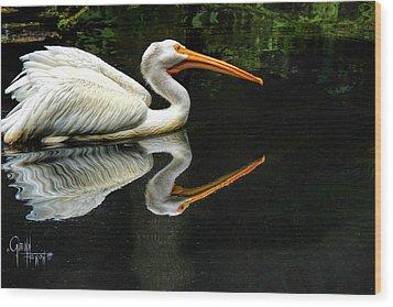 Wood Print featuring the photograph Feron's Heron by Glenn Feron