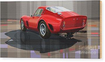 Ferrari 250 Gto Wood Print by Yuriy Shevchuk