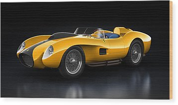 Wood Print featuring the digital art Ferrari 250 Testa Rossa - Bloom by Marc Orphanos