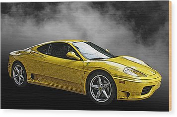 Ferrari 360 Modena Side View Wood Print