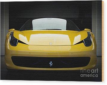Wood Print featuring the photograph Ferrari 458 by Matt Malloy