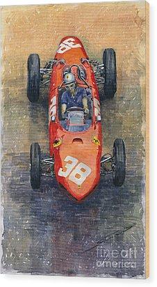 Ferrari Dino 156 1962 Monaco Gp Wood Print by Yuriy Shevchuk