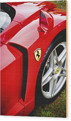 Ferrari Enzo Wood Print by Phil 'motography' Clark