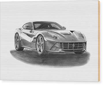 Ferrari F12 Berlinetta Wood Print by Gabor Vida