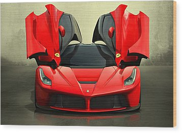 Ferrari Laferrari F 150 Supercar Wood Print