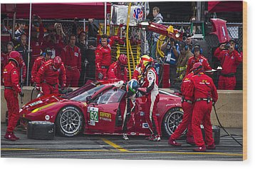 Ferrari Of Vancouver Wood Print by Bill Linhares