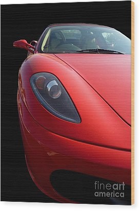 Wood Print featuring the photograph Ferrari by Vicki Spindler