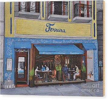 Ferreira Cafe  Wood Print by Reb Frost