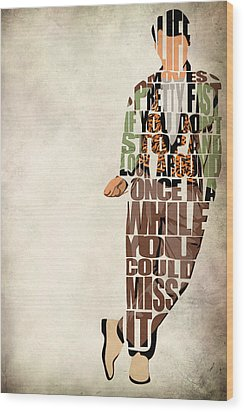 Ferris Bueller's Day Off Wood Print by Ayse Deniz