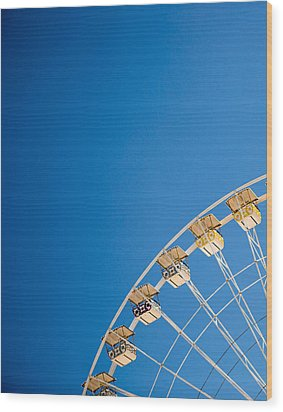 Ferris Wheel 1 Wood Print by Rebecca Cozart