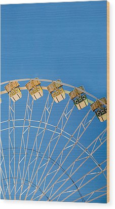 Ferris Wheel 2 Wood Print by Rebecca Cozart