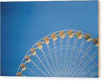 Ferris Wheel 3 Wood Print by Rebecca Cozart