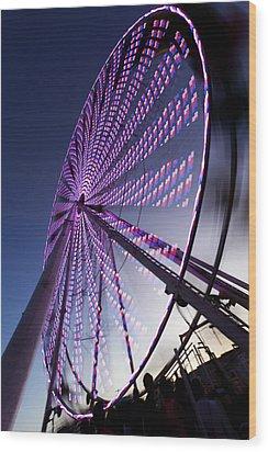 Ferris Wheel Wood Print by Chris Babcock