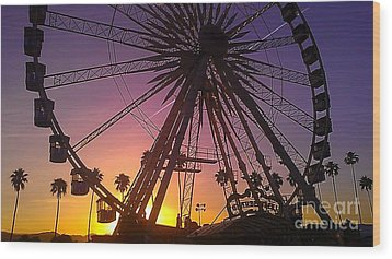 Ferris Wheel Wood Print by Chris Tarpening