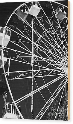 Ferris Wheel Lines Wood Print by John Rizzuto
