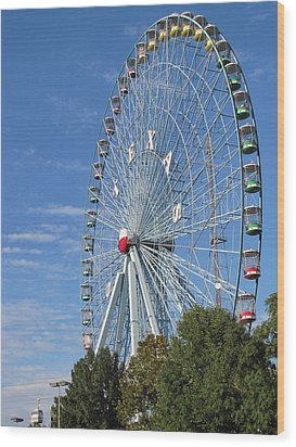 Ferris Wheel State Fair Of Texas Wood Print