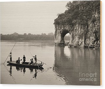 Wood Print featuring the photograph Ferry At Elephant's Trunk Hill by Nigel Fletcher-Jones