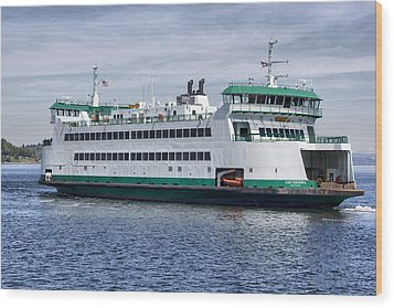 Ferry Boat Chetzemoka  Wood Print by Bob Noble Photography