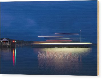 Ferry Light Wood Print