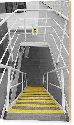 Wood Print featuring the photograph Ferry Stairwell by Marilyn Wilson