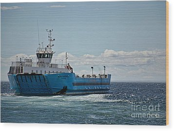 Ferryboat In Chilean Waters Wood Print