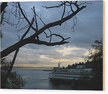 Ferryboat To Seattle  Wood Print