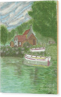 Wood Print featuring the painting Ferryman's Cottage by Tracey Williams