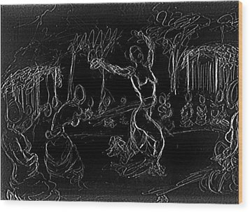 Fertility Dance Wood Print by George Harrison