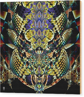 Festooned Wood Print by Jim Pavelle