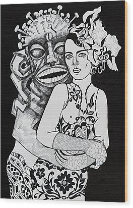 Fetish Girl Wood Print by Yelena Tylkina