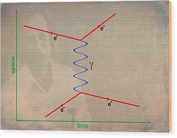 Feynman Diagram Wood Print