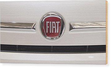 Fiat Logo Wood Print by Valentino Visentini