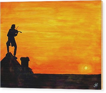 Fiddler On The Roof Wood Print