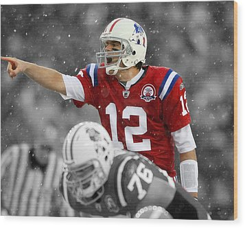 Field General Tom Brady  Wood Print