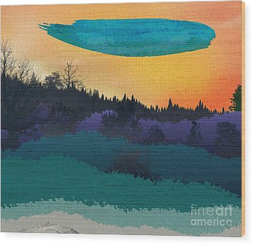 Field Of Colors And Shades Wood Print by Bedros Awak