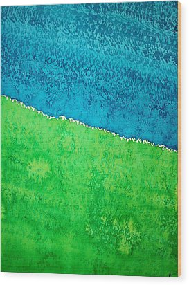 Field Of Dreams Original Painting Wood Print by Sol Luckman