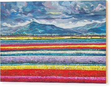 Field Of Dreams Wood Print by Suzanne King