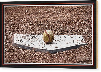 Field Of Dreams The Ball Wood Print by Susanne Van Hulst
