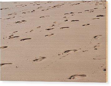 Field Of Footprints Wood Print by Dan  Grover