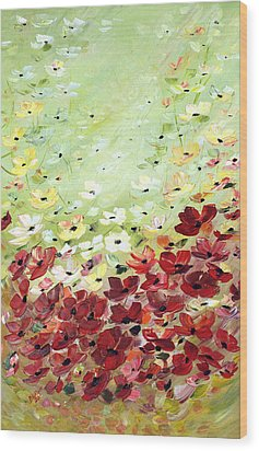 Field Of Poppies Wood Print by Dorothy Maier