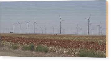 Wood Print featuring the photograph Field Of Wind by Fortunate Findings Shirley Dickerson