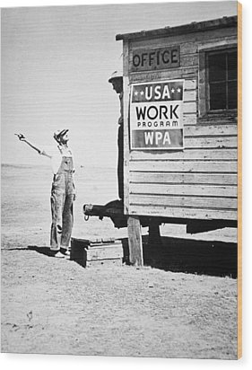 Field Office Of The Wpa Government Agency Wood Print by American Photographer