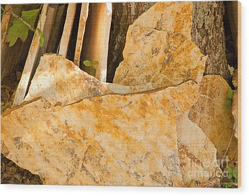 Wood Print featuring the photograph Field Stones by Lena Wilhite