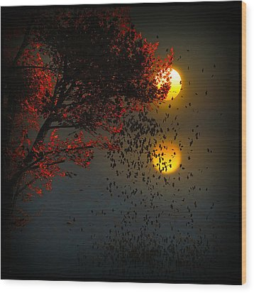 Fiery Fall... Wood Print by Tim Fillingim