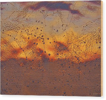 Fiery Horizon Wood Print by Sami Tiainen